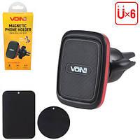 Держатель мобильного телефона VOIN UHV-5007BK/RD магнитный на дефлектор (UHV-5007BK/RD), фото 1