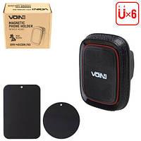 Тримач мобільного телефону VOIN UHV-4003BK/RD магнітний, без кронштейна (UHV-4003BK/RD), фото 1