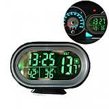 Автомобильные часы с термометром и вольтметром VST 7009V, фото 7