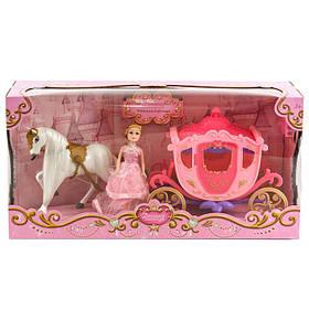 Карета розовая