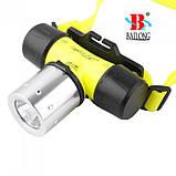 Налобный фонарик для дайвинга Bailong BL-56 фонарь, фото 2