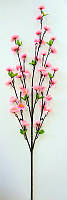 Ветка сакуры розовая 90см (20311)