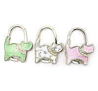 "Вешалка для женской сумочки ""Кошка-Замок"" 7х6х1см (28454)"