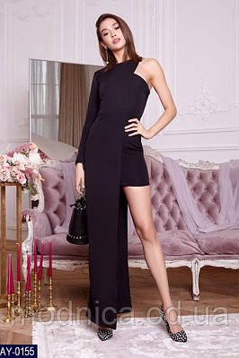 Ошатне жіноче асиметричне плаття, розміри XS, S, M, L