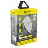 Сетевой адаптер Awei C821 5V, 2.1A, 1 USB зарядка, фото 4