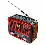 Радиоприёмник Golon RX-456S с солнечной панелью Красный, фото 2