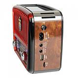 Радиоприёмник Golon RX-456S с солнечной панелью Красный, фото 3