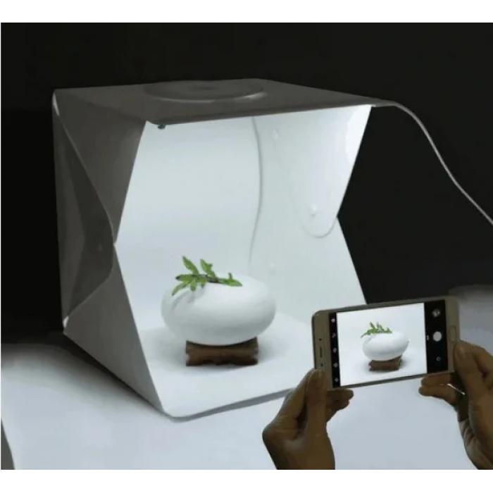 Световой Лайт бокс с 2x LED подсветкой для предметной макросъемки 40 х 40 см