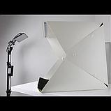 Световой Лайт бокс с 2x LED подсветкой для предметной макросъемки 40 х 40 см, фото 4