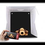 Световой Лайт бокс с 2x LED подсветкой для предметной макросъемки 40 х 40 см, фото 5
