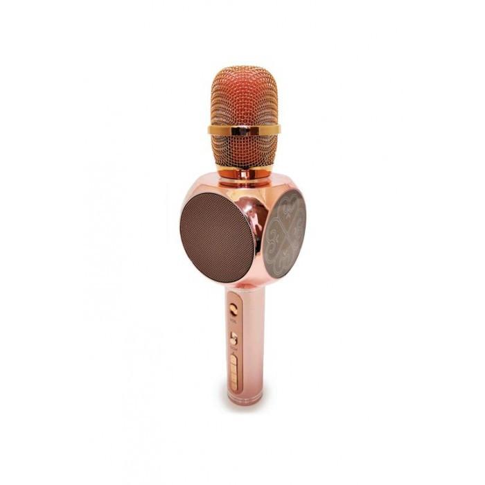 Беспроводная портативная колонка + караоке микрофон 2 в 1 SU-YOSD YS-63 Светло-Розовый