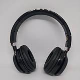 Беспроводные Bluetooth Наушники J59SS FM радио Чёрные с серым, фото 2