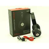 Наушники беспроводные bluetooth microSD Mp3 S460 MP3 FM радио Чёрные, фото 9