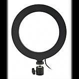 Кольцевая LED лампа 16 см селфи кольцо для блогера, фото 2