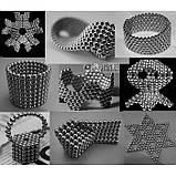Неокуб Neocube 216 шариков 5мм в металлическом боксе серебристый, фото 3