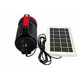 Фонарь ручной светодиодный Yajia YJ-1902T с солнечной панелью и USB Power Bank, фото 7