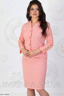 Стильний жіночий костюм мерехтливої кольору батал, розмір 50-52, 54-56, 58-60