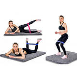 Резинка для фитнеса и спорта Esonstyle (эластичная лента эспандер) набор 5 шт + Чехол в комплекте, фото 4