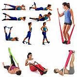 Резинка для фитнеса и спорта Esonstyle (эластичная лента эспандер) набор 5 шт + Чехол в комплекте, фото 6