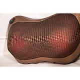 Массажер, массажная подушка для дома и машины Massage pillow CHM-8028 (4 ролика), фото 5