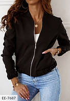 Весенняя женская куртка на подкладке батал, размеры 50-52