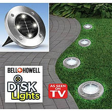 Солнечные уличные светильники Solar Disk Lights (набор из 4шт)