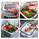 Складная разделочная доска для мытья и резки овощей, фото 7