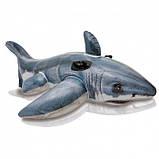 """Intex Плотик """"Акула"""" 57525 NP с ручками, размером 173х104см, от 3лет, фото 2"""