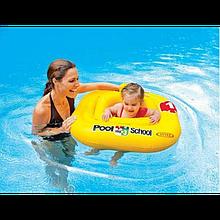 """Intex Плотик-ходунки 56587 EU """"Учимся плавать"""" размером 79х79см, от 1 до 2 лет"""