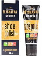 """Крем для взуття з апл. тюбик """"Blyskavka"""" 75мл. 75 мл безбарвна"""