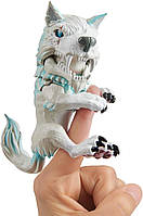 WowWee Fingerlings Интерактивный ручной волк Дикий Blizzard Untamed Dire Wolf