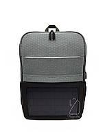 Рюкзак с солнечной батареей под компьютер серый