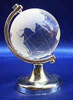 Глобус хрустальный белый 7х4,5х4,5см (20726)