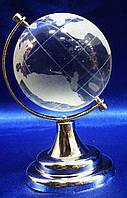 Глобус хрустальный белый 8,5х5,5х5,5см (2385)