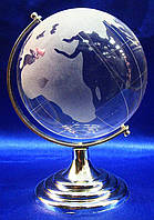 Глобус хрустальный белый 13х8,5х8,5см (2821)