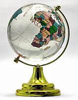 Глобус хрустальный цветной 10х6,5х6,5см (18273)