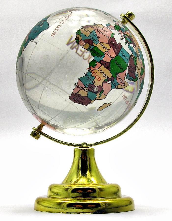 Глобус хрустальный цветной 10х6,5х6,5см (18273) - Интернет-магазин «Идея Фикс» в Харькове