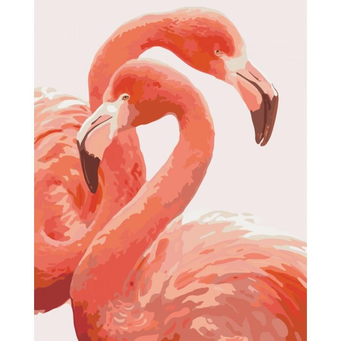 """Картина по номерам. Животные, птицы """"Грация фламинго"""" 40*50см * KHO2446"""