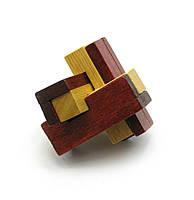 Головоломка деревянная 6х6х6см (27894)