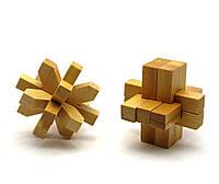 Головоломка деревянная 7,5х7,5х7,5см (28002)