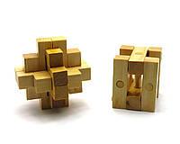 Головоломка деревянная 7х7х7см (28008)