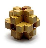 Головоломка деревянная 7х7х7см (28017)