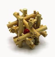 Головоломка деревянная 7х7х7см (28021)