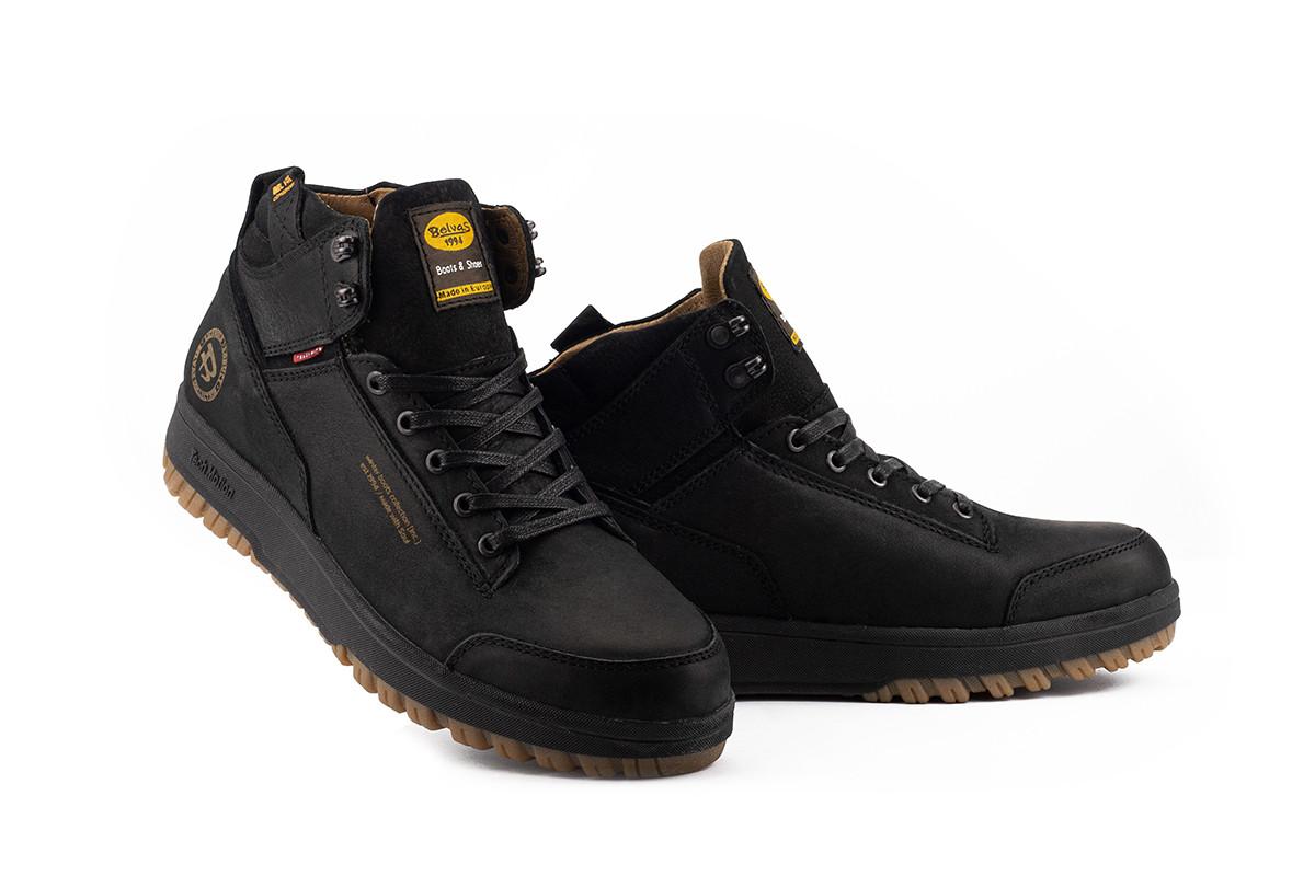 Мужские ботинки кожаные зимние черные Belvas 19151