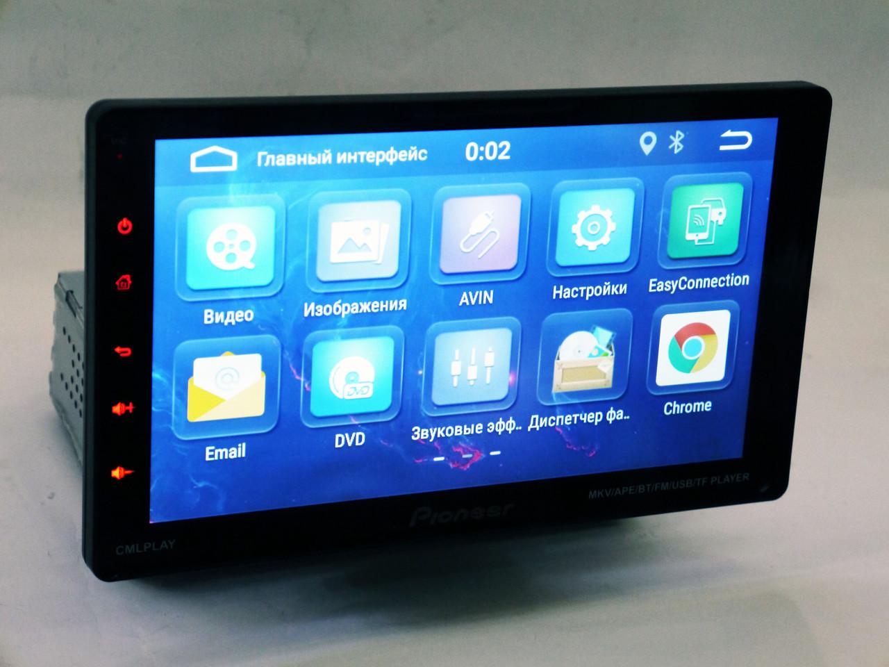 "1din Магнитола Pioneer 9010A - 9"" Съемный экран + GPS + WiFI + USB + Bluetooth + Android 9.0"