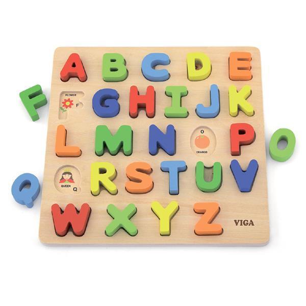 Деревянный пазл Viga Toys Английский алфавит, заглавные буквы (50124)