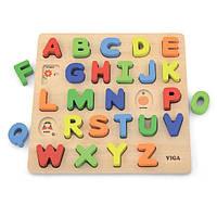 Деревянный пазл Viga Toys Английский алфавит, заглавные буквы (50124), фото 1