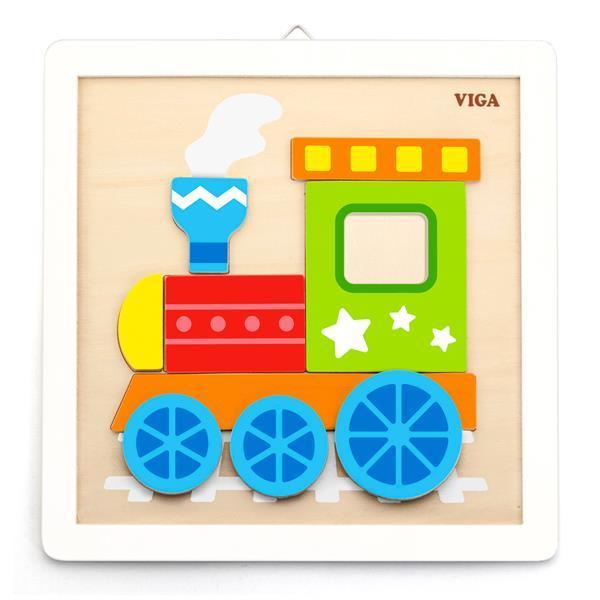 Набор для творчества Viga Toys Картина своими руками Паровозик (50686)