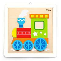 Набор для творчества Viga Toys Картина своими руками Паровозик (50686), фото 1