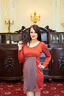 Платье 2в1: беременность, кормление, кирпичный, фото 1